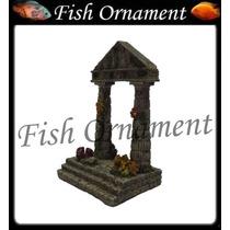 Soma 054032 Enfeite Resina Ruína Grega 04 Fish Ornament