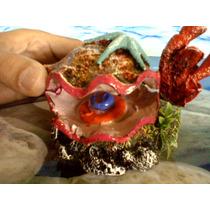 Enfeite Ostra Viva Nos Corais - Resina - Aquário
