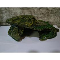Enfeite De Aquário Toca/rampa Para Tartarugas Em Pedra