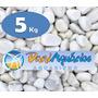 5 Kg Pedras Para Jardins, Seixo Branco, Decoração, Aquário