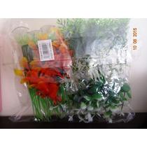 Plantas Artificiais P C/ Ventosa Pact Com 10 Plantas 10 Cm