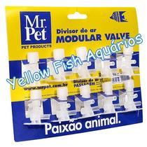 Divisor De Ar Para Aquário - Mr Pet Passagem 20 Unidades