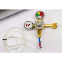 Kit Regulador Pressão Co2 Ajuste Fino C/ Solenóide E Difusor