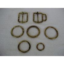 Argolas E Fivelas De Bronze Antiga - Acessórios Para Cavalos