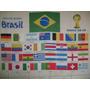 Bandeira World Cup Copa 2014 Brasil Com Os 32 Paises 142x92