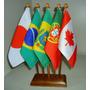 Kit Bandeira De Mesa Com 5 Mastros - Alt 31cm