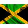 Bandeira País Jamaica Poliester 30cm X 20cm Bandeirola