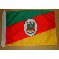 Bandeira Oficial Do Rio Grande Do Sul Tam.22x33cm P/ Motos