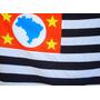 Bandeira Oficial Do Brasil E De São Paulo 90x129cm (conj)