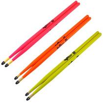 Baqueta 7a Nylon Luminosa Diversas Cores Spanking 2660