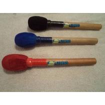 Kit Com 3 Baquetas Oval Para Surdo Pagode