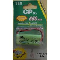 Bateria Para Telefone S/ Fio Gpx T-60 2.4 V 650 Mah - 2aaa