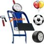 Pneus Pedal Bomba Ar Pressão Moto Autos Balões Bolas Medidor