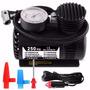 Mini Compressor 12v 250 Psi + Manômetro P/ Pneus E Infláveis
