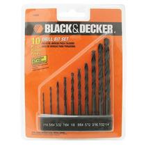 Jogo Com 10 Brocas De Aço Rápido - 15080ep - Black & Decker