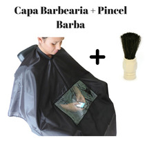 Capa De Corte Para Barbearia De Poliester Com Visor Celular