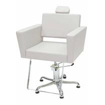 Cadeira Cabeleireiro Hidráulica Kixiki Niágara - Branco Pero