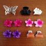 Kit Acessórios Para Cabelos Presilhas Borboleta Flores Color