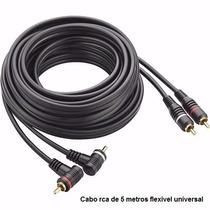 Cabo Rca 5 Metro P/ Modulo Taramps Ts400 Ts800 Hd1600 Hd3000