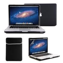 Kit 4x1 Capa Case Protetor Tela Teclado Preto Macbook Pro 13