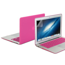 Kit 3x1 Capa Case Protetor Tela Teclado Rosa Macbook Air 13