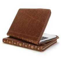 Capa Case Protetor De Couro Marrom Macbook Pro Retina 13