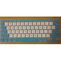 Protetor Teclado Silicone Macbook Pro Air Retina Azul Branco