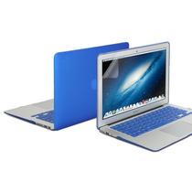 Kit 3x1 Capa Case Protetor Tela Teclado Azul Macbook Air 11