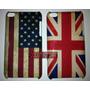 Capa Case Ipod Touch 4 Bandeiras Usa Inglaterra + Frete Grat