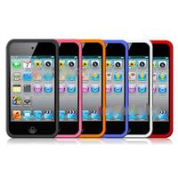 Case De Silicone Para Ipod Touch 4ªg + Película Protetora