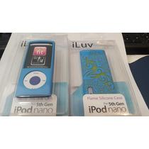 Case (capa) Iluv Para Ipod Nano 5 Silicone Na Cor Azul