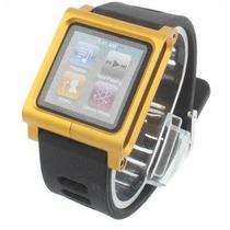 Pulseira Em Plástico Preta Lunatik Ipod Nano 6g / 7g Amarela
