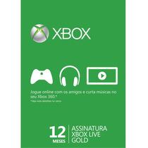 Cartão Xbox Live Gold 12 Meses - Exclusivo Live Brasileira