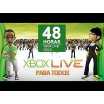 Cartão Xbox Live Gold 48 Horas Brasil E Usa Envio Imediato!