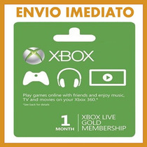 Xbox Live Gold Br 1 Mês Envio Imediato