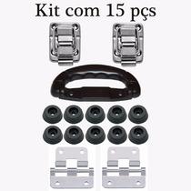 Ferragens Para Case C/ Tampo Removível - Kit Completo 15 Pçs