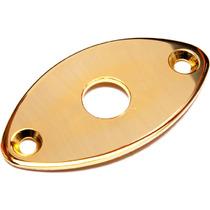 Original Gotoh Parts Jack Plate Oval Dourado Guitarra Baixo