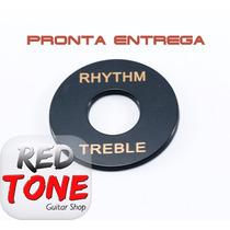 Escudo Preto Chave Seletora Guitarra Les Paul Rhythm Treeble