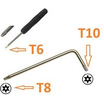 Chave Torx T6 E T8 T10 Com Furo Para Abrir Ps3 Ps4 X360 Xbox