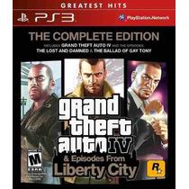 Grand Theft Auto Gta 4 Iv Complete Edition Ps3 - 3 Jogos
