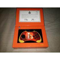 Controle Edição Comemorativa Street Fighter Ken Ps2 Novo