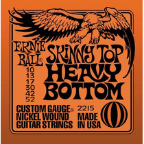 Encordoamento Ernie Ball 010 Hibrido 2215 Top Heavy Made Usa