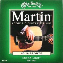 Encordoamento Violão Martin M170 010-.047 Bronze Extra Light