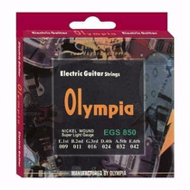 Jogo De Cordas Para Guitarra Elétrica Olympia 09 Tensão Leve