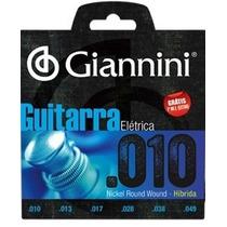 Encordoamento Giannini Guitarra Hibrida 0.10