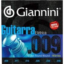 Encordoamento Giannini Guitarra Hibrida 0.09