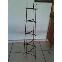(only Wood) Coluna Suporte De Ferro Antigo Para Panelas.