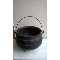 Antiga Panela De Ferro Grande ( 30 Litros) P/ Uso