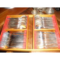 Faqueiro Antigo Prata 90wolff 118 Pçs Na Caixa