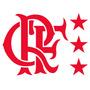 Escudo Retrô Crf Flamengo Veludo Flock Termocolante !!!